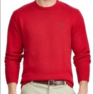 Men's Chaps red long sleeve sweater Size XL